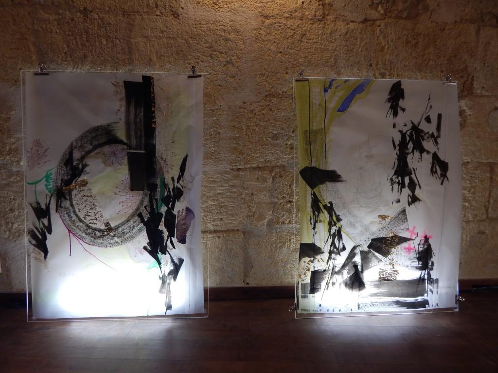2x 1150x830 Technique mixte sur papier calque, plexiglass et néon