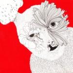 Bec de lièvre rouge