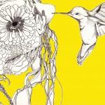 Tête végetale et colibris