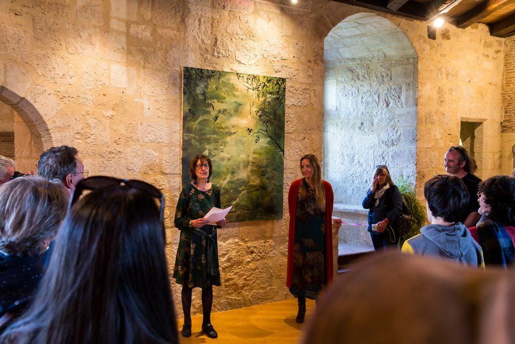Exposition de Carole Collaudin au château de Pujols, vernissage