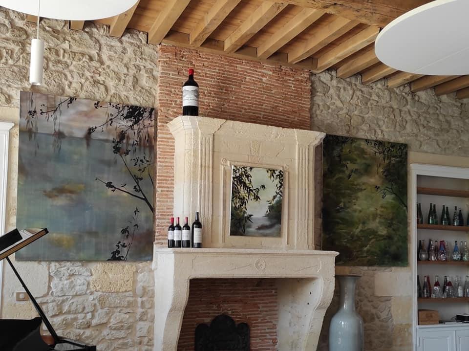 Vue cheminée grand Salon du Château Prieuré Marquet